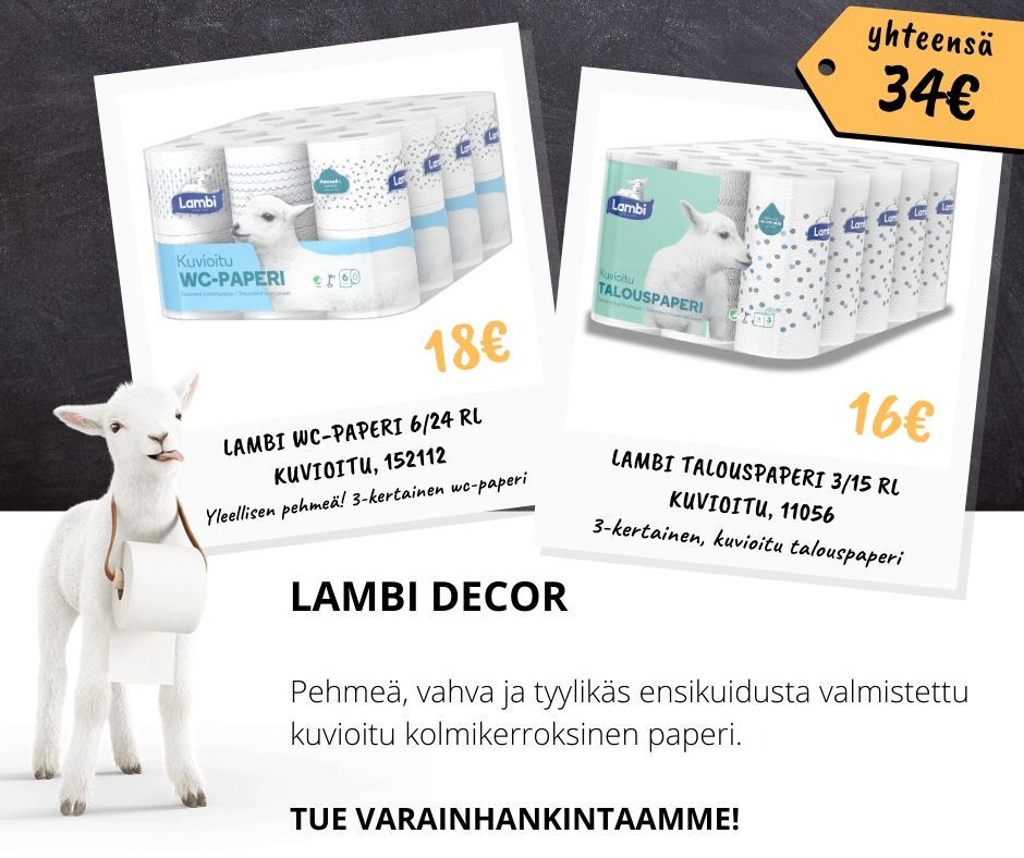 Lambi Decor wc- ja talouspaperit